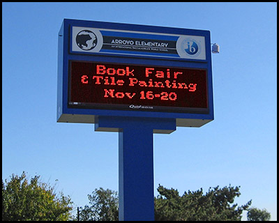 arroyo_elementary_school_led_pole_sign