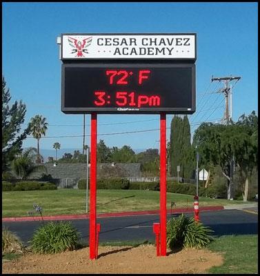 cesar_chavez_academy_pole_sign