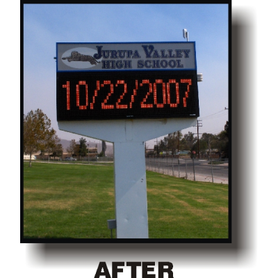 High School Sign with standard LED