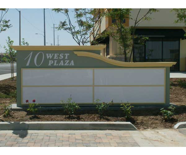custom monument sign with address
