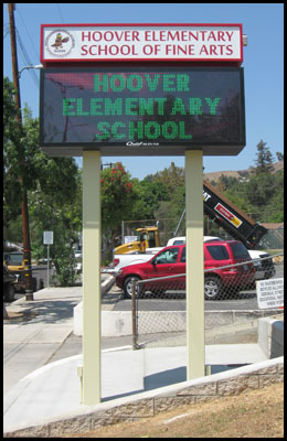 custom LED school marquee sign