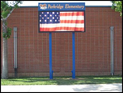 parkridge_elemetnary_school_pole_sign