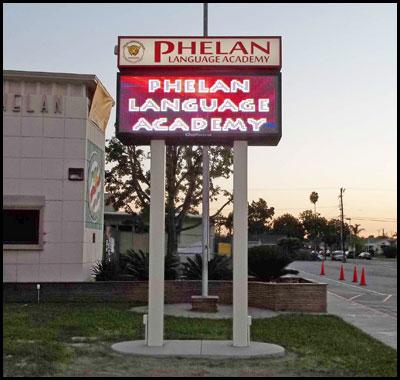 phelan_language_academy_pole_sign